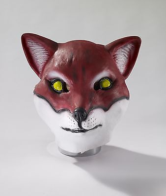 Latex Fox Mask Adult Size Full Face Realistic Animal Head Mascot Mens Womens NEW (Realistic Animal Masks)