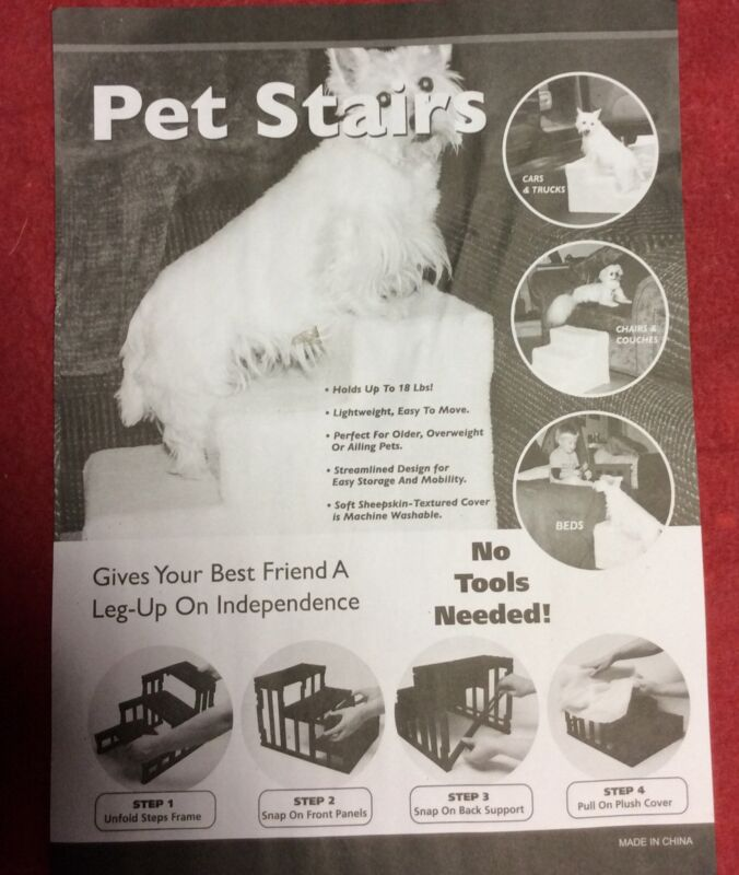 Pet Stairs No Tools Needed,holds Up To 18 Lbs,light Weight