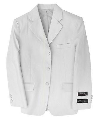 Boys Linen Blazer (Johnnie Lene Toddlers Kids Boys' Cotton/Linen White Blazer Jacket)