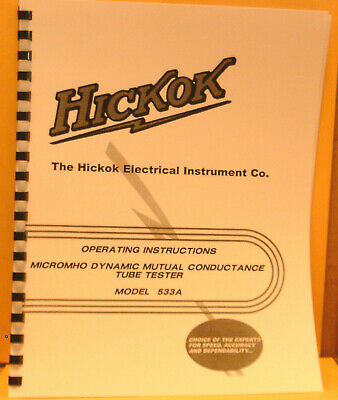Hickok 533a Instruction Manual Schematic