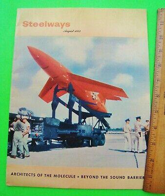 1953 American Iron Steel Steelways Magazine The Mighty Mite Sound Barrier