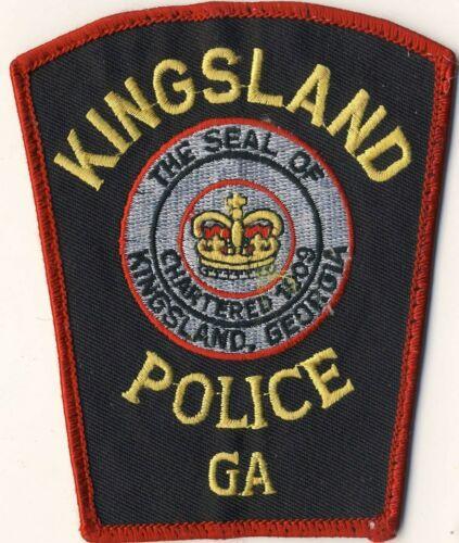 "Kingsland Police GA Georgia 4.5"" Patch"