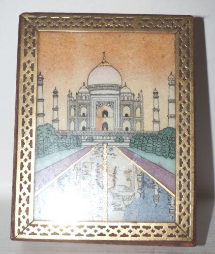 Jewelry Box with Gemstone Painting (Crushed Gemstone Art on Wood)