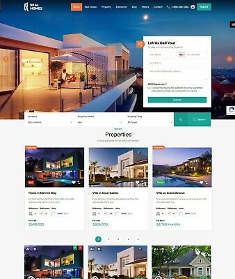 Beautiful Real Estate Website Free Installation Hosting