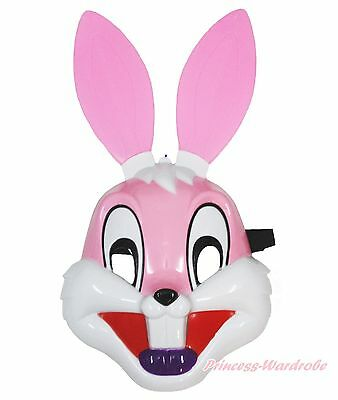 Easter Pink Long Ear Rabbit Bunny Face Mask Halloween Party Kids Toy Costume](Halloween Bunny Face)