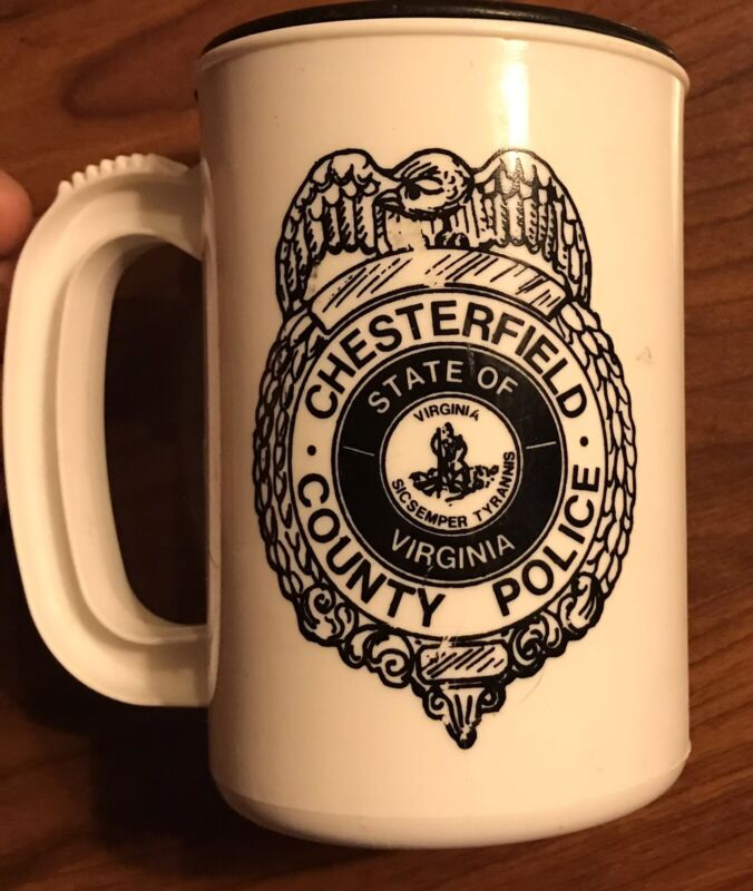 RARE VINTAGE CHESTERFIELD COUNTY VIRGINIA POLICE COFFEE MUG