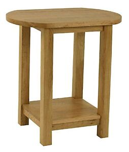 Carne oak oval lamp table solid oak side table for Oak lamp table 60cm high