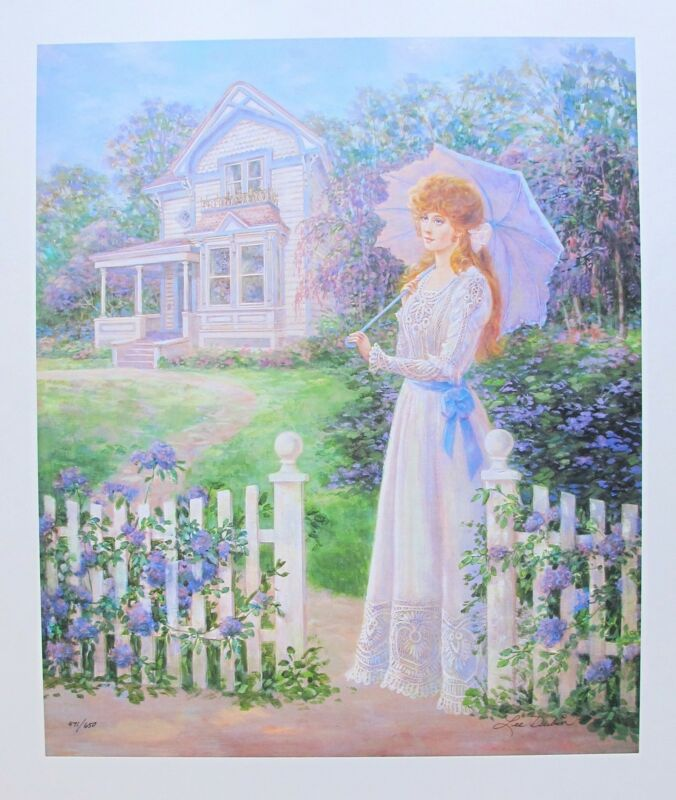 """LEE DUBIN """"LILAC TIME"""" Hand Signed Limited Edition Lithograph Art"""