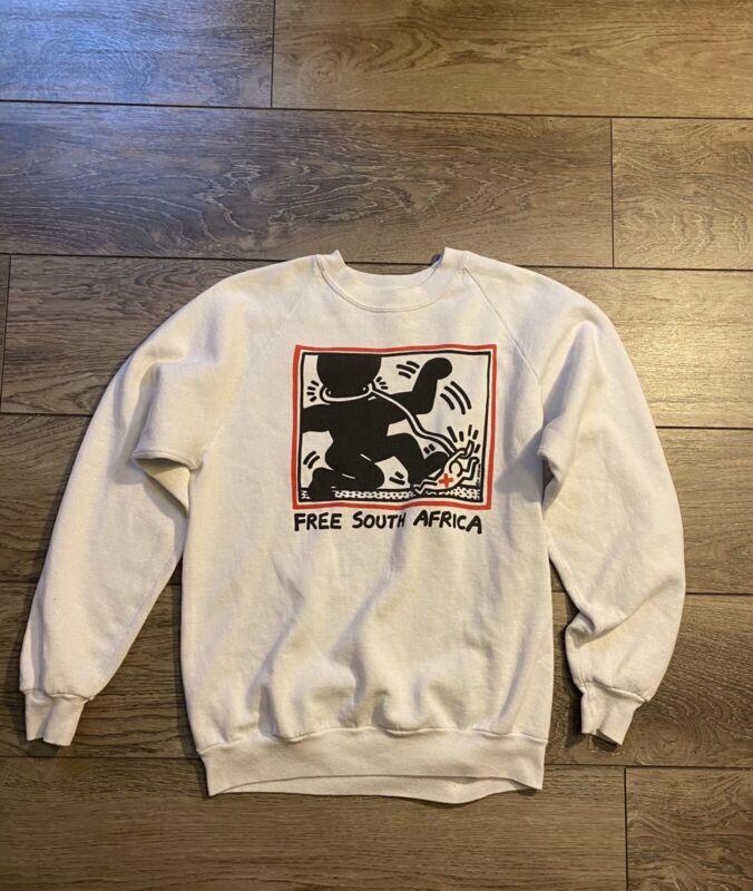 VINTAGE Keith Haring Free South Africa Sweatshirt
