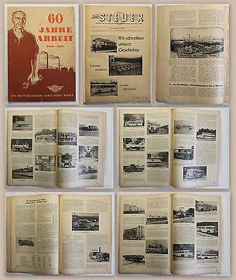 60 Jahre Arbeit Betriebszeitung VEB Kraftfahrzeugwerk Ernst Grube Werdau 1958 xz