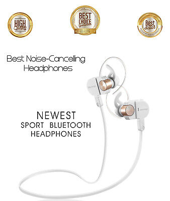 Earbud Headphones Wireless Earbuds, Best Noise Cancelling Bluetooth Headset Gym