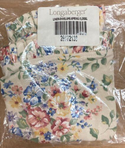 Longaberger Envelope Basket LINER Spring Floral 26972138