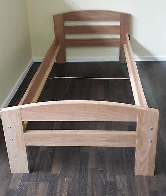 Holz Furnier Mdf (ABHOL-ANGEBOT! SIMONE Bett 90x200 cm, MDF Eiche-Echtholz-Furnier geölt, B-Ware)