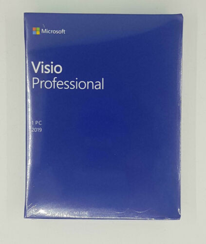 Visio Professional 2019 - Retail Packaged Product Brand New MEDIALESS