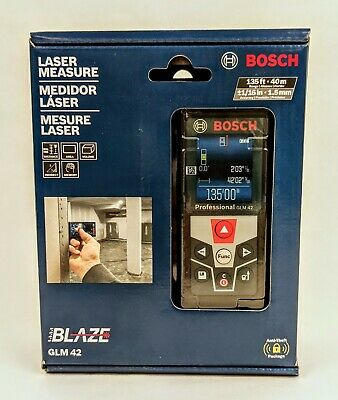 Bosch Blaze Glm 42 135 Ft. Laser Measure With Full-color Display - Free Ship