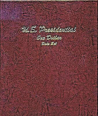 Dansco Coin Album 7186 Presidential Dollar Album Date Set one coin per President