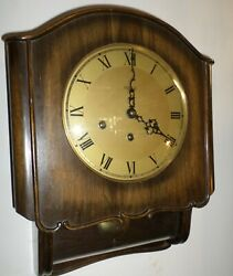 VERY NICE GERMAN HECO FRIEDRICH MAUTHE WESTMINSTER CHIME 8 DAY WOOD WALL CLOCK!