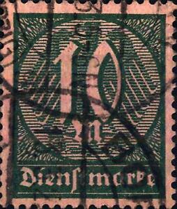 GERMANIA-REICH-Francobolli-di-Servizio-1922-23-Valore-in-un-ovale
