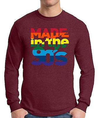 Made in The 90's Long Sleeve T shirts Tops Shirts Men's Birthday Gift 90s - 90s Birthday