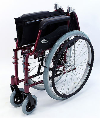 High Strength Ultra Light Weight  Wheelchair Folding Red Karman LT-980-BD NEW
