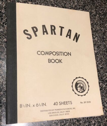 Vintage Spartan Composition Book No. SP-1510  - $9.95