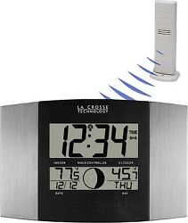 WS-8117U-IT-AL La Crosse Technology Atomic Digital Wall Clock with TX37U-IT