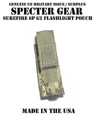 SPECTER GEAR 287 ACU-FG MOLLE MOUNT SUREFIRE 6P G2 FLASHLIGHT POUCH US MILITARY