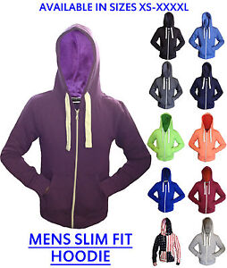 MENS-PLAIN-HOODIE-GENTS-ZIP-HOODY-TOP-BOYS-HOODED-SWEATSHIRT-SIZE-XS-4XL