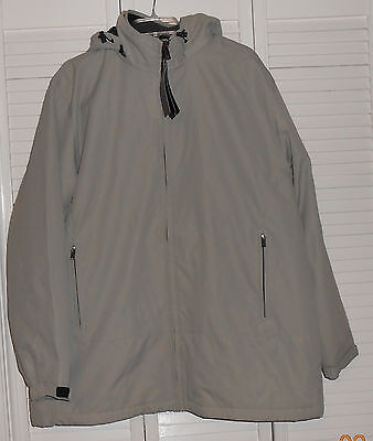 Weatherproof Brand Bone Microfiber Lined Hooded Jacket Sixe Xl