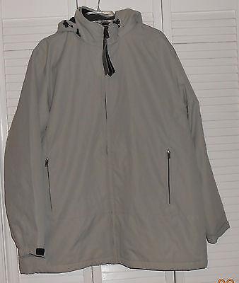 Weatherproof Brand Bone Microfiber Lined Hooded Jacket Sixe Xl