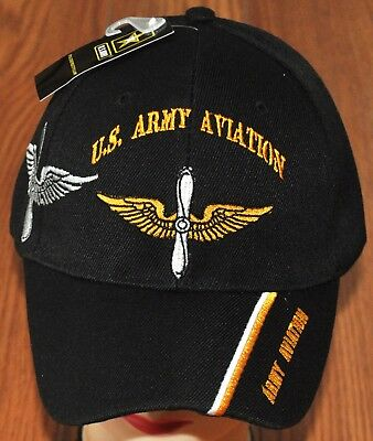 New US Army Aviation Branch Hat Ball Cap Veteran Military Pilot Wings
