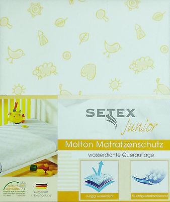 Moltontuch Betteinlage Matratzenschutz 50 x 90 Nässeschutz Kinderbett mit Motiv