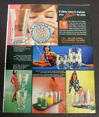 Vintage 1963 Ladies' Home Journal Magazine Print Ad - LIBBY GLASS