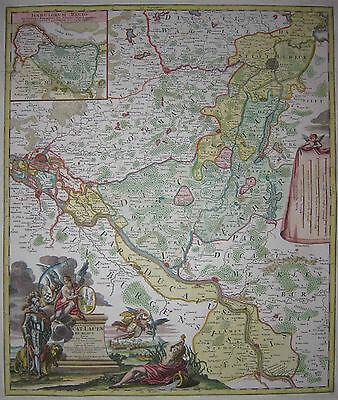 Typus Geographicus Ducat. Lauenburgici - Lauenburg - J.B. Homann - 1729