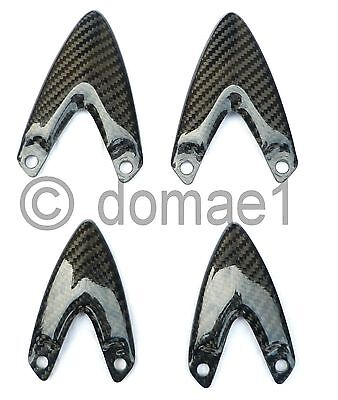CARBON FIBER HEEL GUARDS PLATES SET TRIUMPH SPRINT GT ST 1050 2005 20