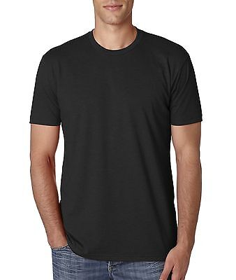 Next Level Mens Cvc Crew Short Sleeve Solid Cotton Poly T Shirt Nl6210