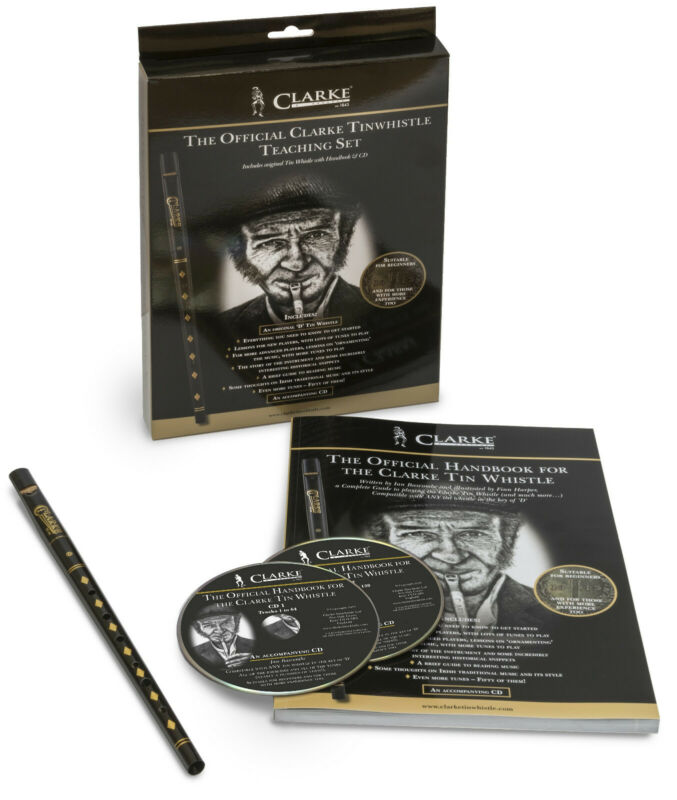 The Official Clarke Tinwhistle Teaching Set - Includes Original Whistle in D