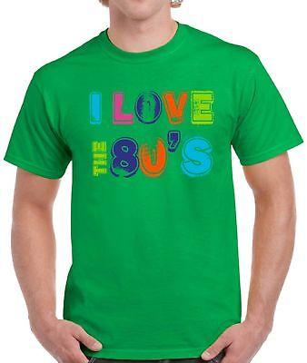 Men's I Love The 80's Shirts Tops T-shirts for Men Birthday Gift Idea](80s Birthday Ideas)