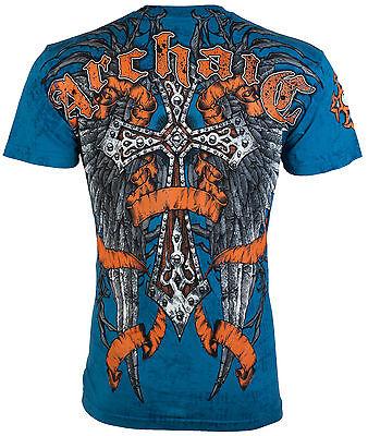 Archaic Affliction Mens T Shirt Paradigm Cross Wings Biker Mma Ufc S 3Xl  40