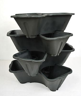 Stackable Stack Garden Planter Herb Flower Pots Indoor Outdoor Clove 4 5 DK GRN Herb Garden Indoors