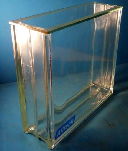 ALLTECH SODA-LIME GLASS RECTANGULAR CHROMATOGRAPHY JAR WITH LID