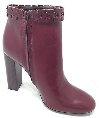 Tory Burch  Savara  Leather Heels Ankle Bootie Red Color Size 9M New Rtl   595