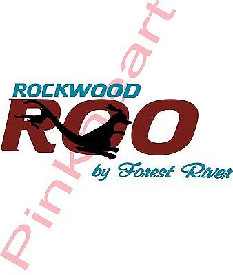 Rockwood ROO  by forest river decal Rv camper decals graphics sticker USA