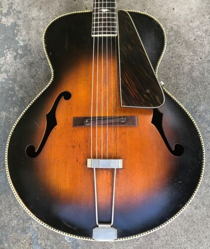 1936-1937 Gibson Ward Recording King Archtop Guitar w/ Case. Model 1285.