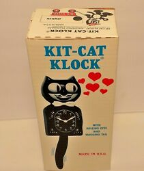Crazy Great N.O.S 80's Jeweled Kit-Cat Klock (Cal Clock Co.) Never Used! MEEOWW!