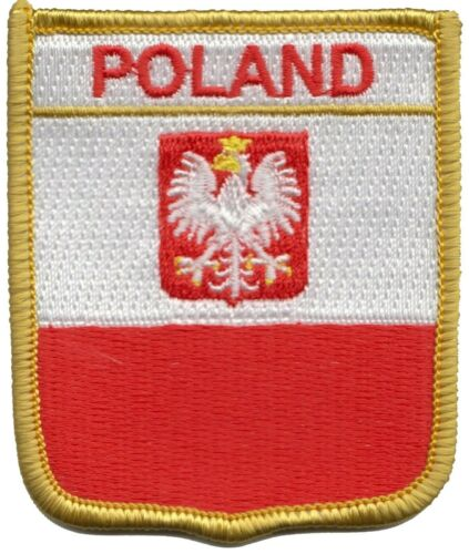 Poland Eagle Flag Shield Embroidered Patch - LAST FEW