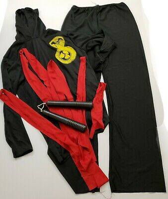 Baby Nun Costume (Child Ninja Costume  Large Halloween Nun Chucks Yellow Cobra Red Belt Rubies)