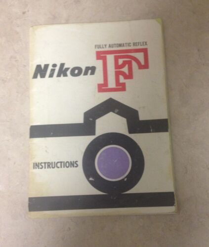 Nikon F Instruction Manual 1960 Good Condition **FREESHIPPING**