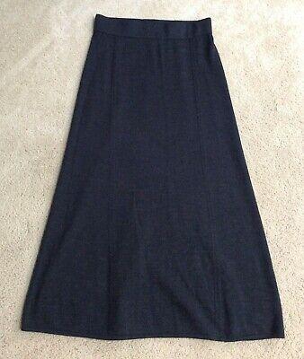 Krimson Klover Black Midi/Maxi Sweater Skirt, A-Line 100% Merino Wool, S Small