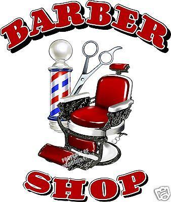"Barber Shop Men's Hair Cuts Care Vinyl Sign for Window Storefront Van Decal 36"""